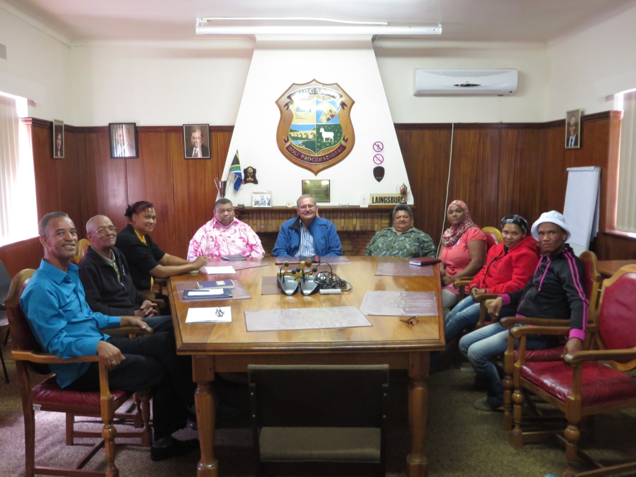 Meeting with Mayor, councillor and economic development officer